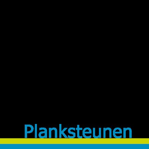 Planksteunen